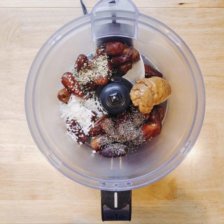 Coconut Dates Seeds Almond Butter Processor | FurloughedFoodie.com