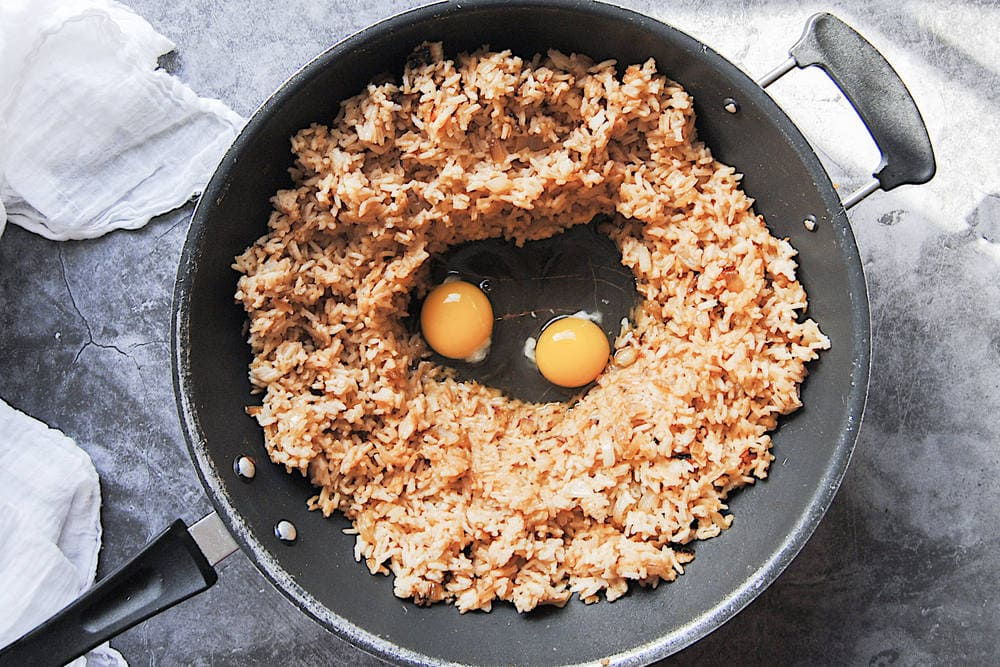 Famous Mushroom Fried Rice - Frying Up Onions