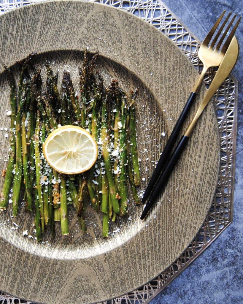 Garlic Lemon Asparagus - Portrait
