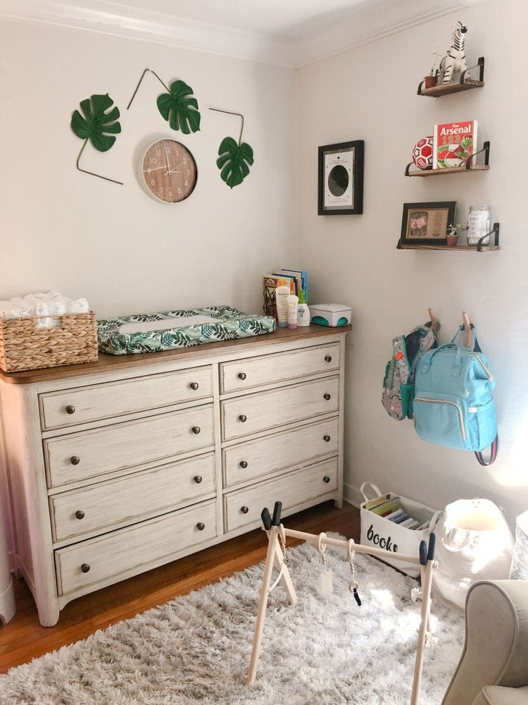 Baby Clothes Drawers and Diaper Changing Station | FurloughedFoodie.com