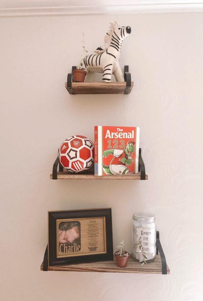 Nursery Bookshelves and Decor | FurloughedFoodie.com