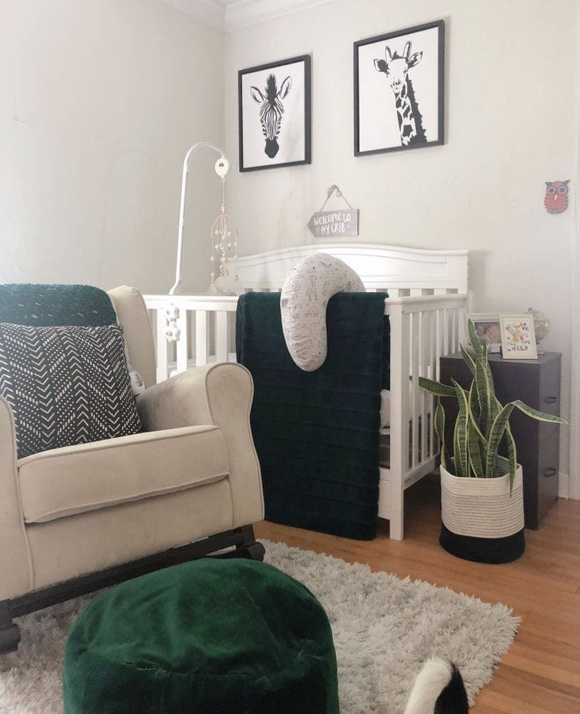 Nursery Crib and Rocking Chair | FurloughedFoodie.com