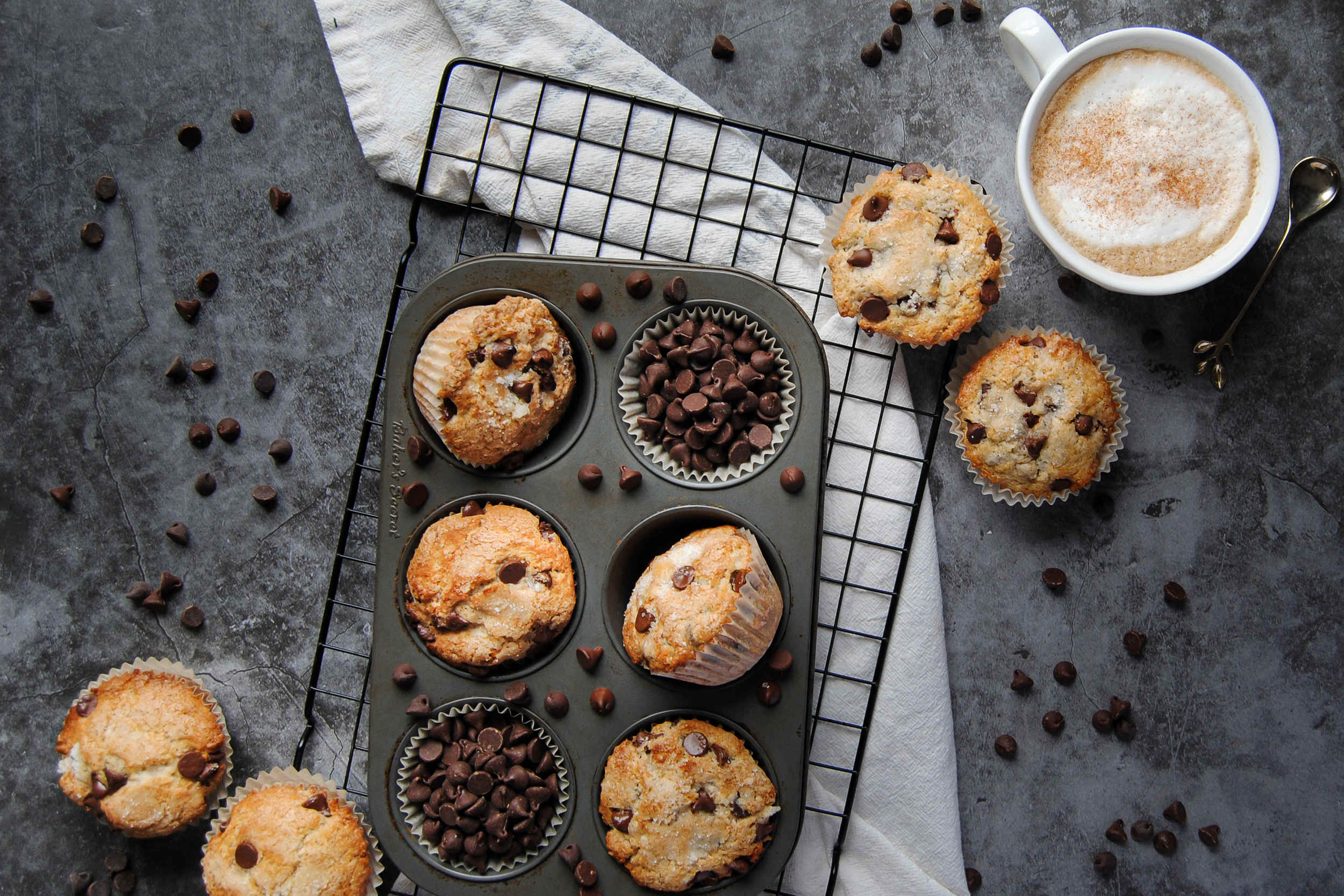 One-Bowl Chocolate Chip Muffins - Featured Image