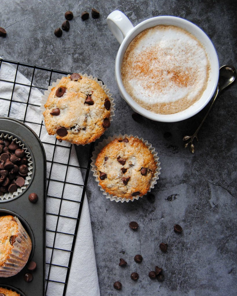 Portrait of Muffins with Coffee