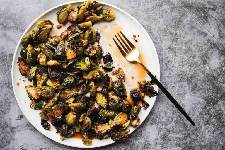 Sweet and Salty Brussels Sprouts - Featured Image