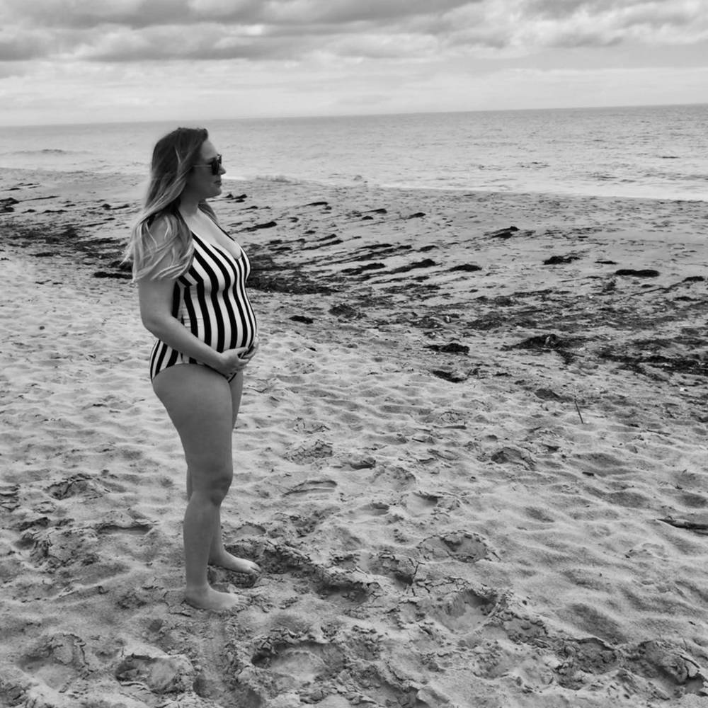 You Can Hate Being Pregnant But Love Being A Mom - On The Beach   FurloughedFoodie.com