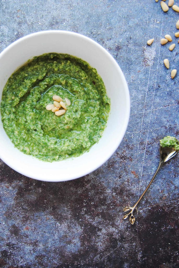 Flavor Punch Two-Step Pesto - Portrait