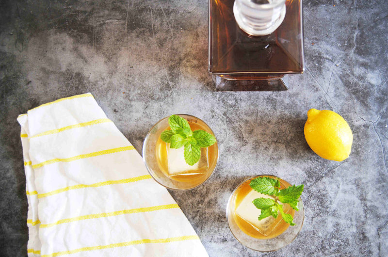 Fresh and Minty Bourbon Smash