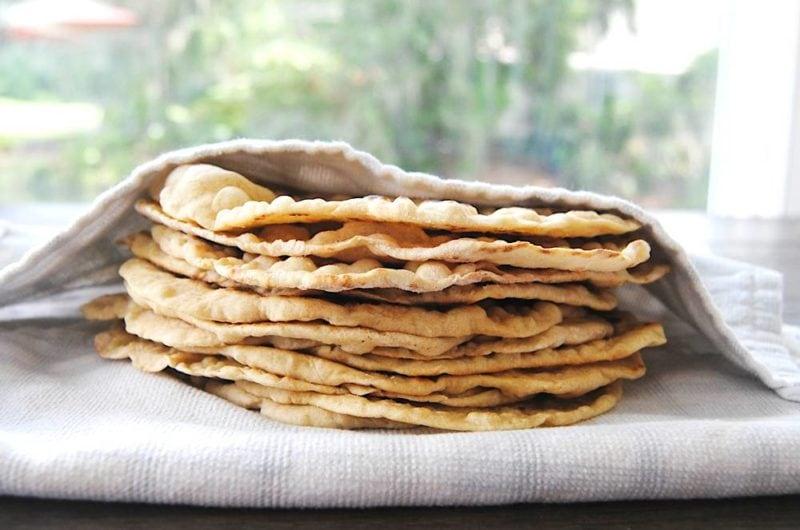 Homemade Fluffy Flour Tortillas