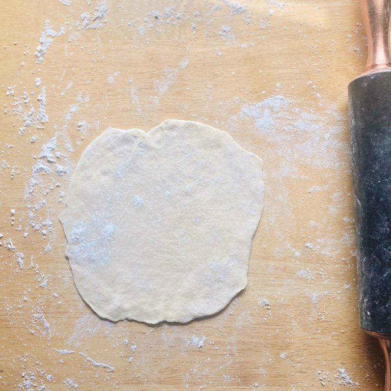 Homemade Fluffy Tortillas - Flattened  FurloughedFoodie.com