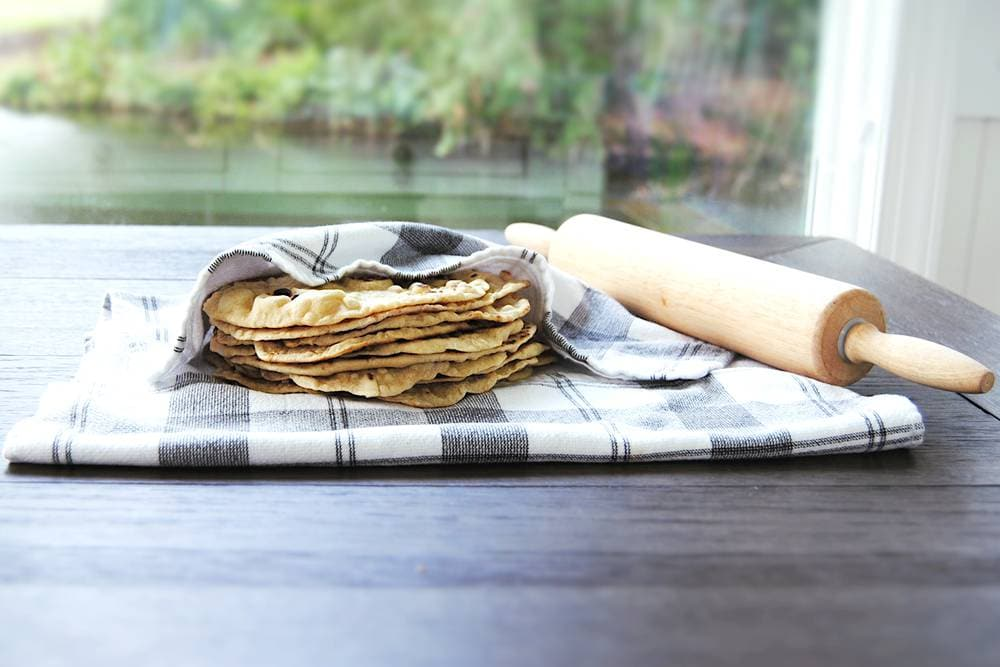 Homemade Fluffy Flour Tortillas - With Rolling Pin