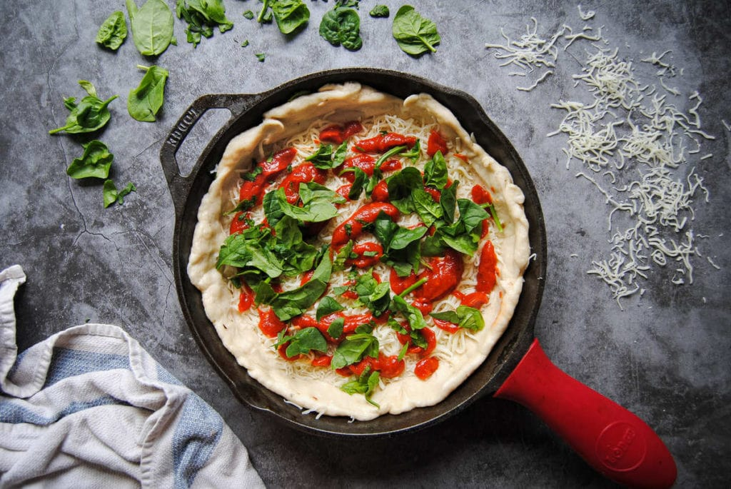 Quick Knead and Rise Pizza Dough - Toppings