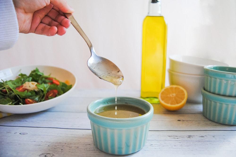Robust Small Batch Greek Vinaigrette - Dripping Off Spoon