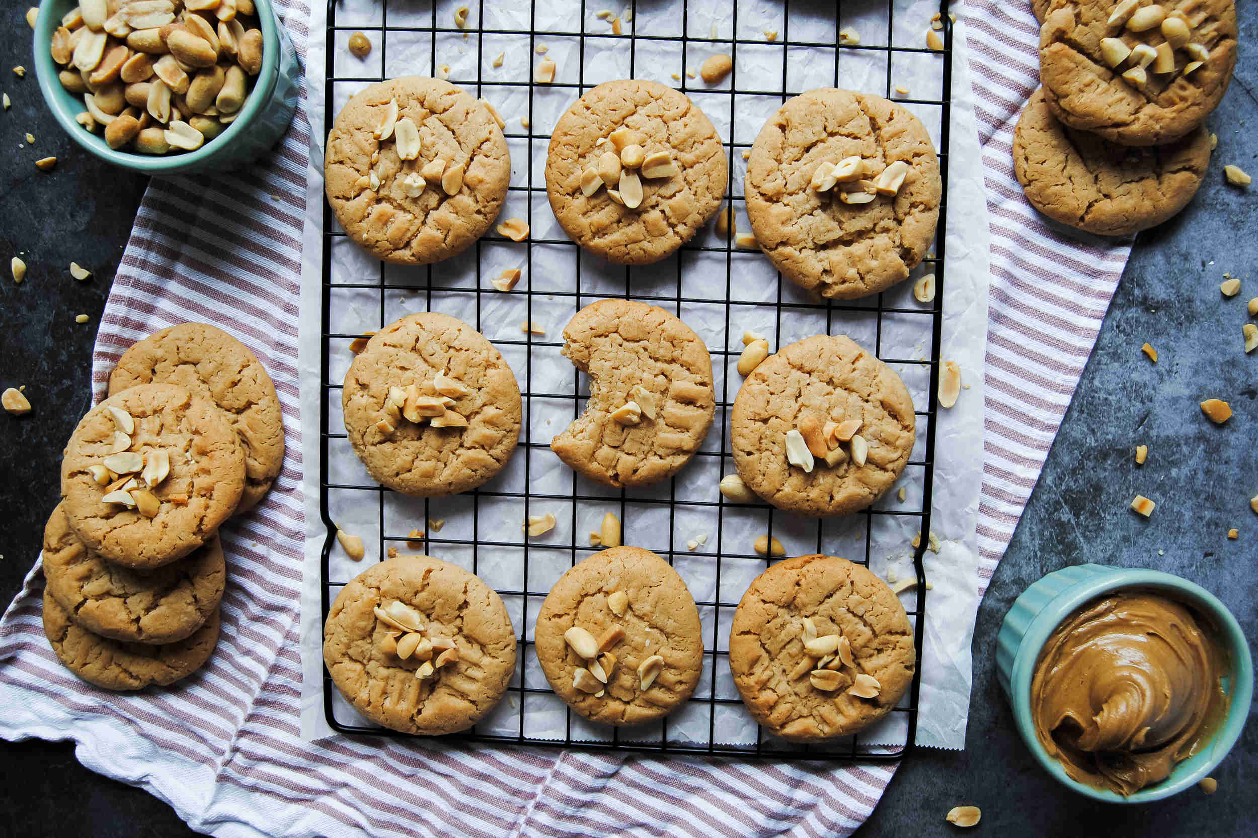 Vegan Peanut Butter Biscuits - Featured Image