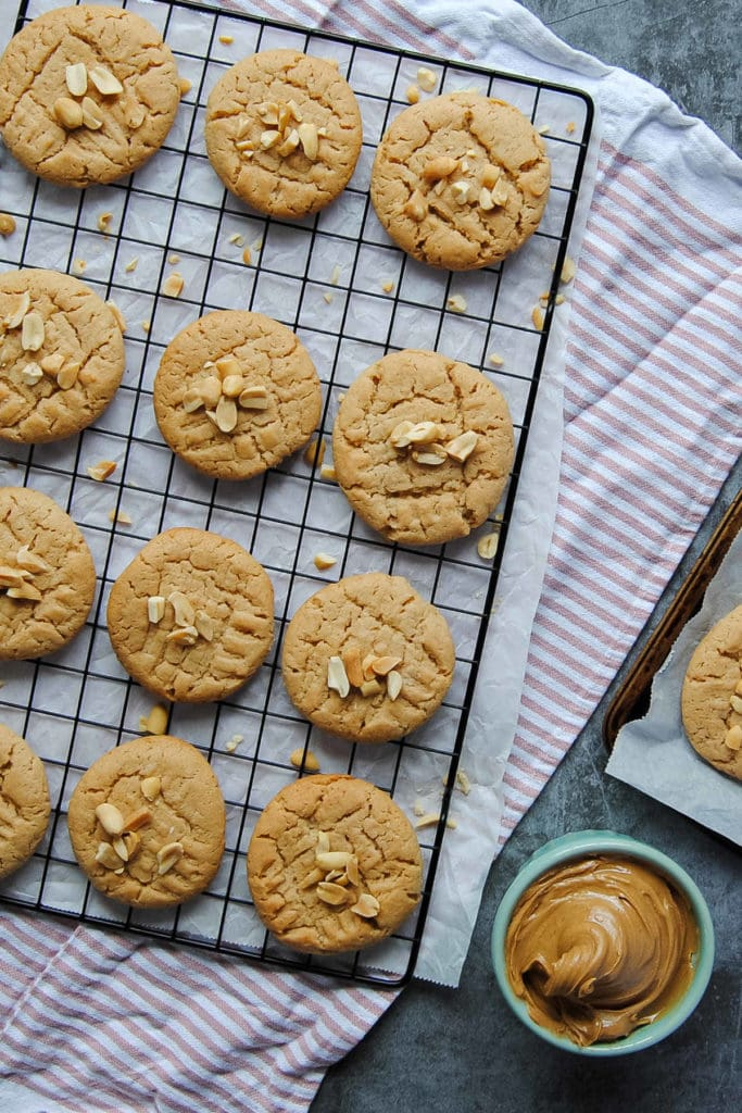 Vegan Peanut Butter Biscuits - With Peanut Butter