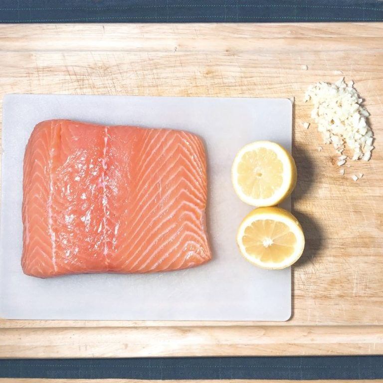 Roasted Garlic Salmon For Two - Ingredients | FurloughedFoodie.com