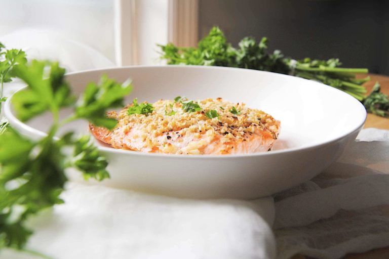 Roasted Garlic Salmon For Two - New Featured Image