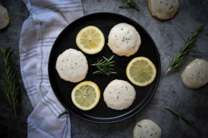 Rosemary Shortbread Cookies with Lemon Glaze - Featured Image
