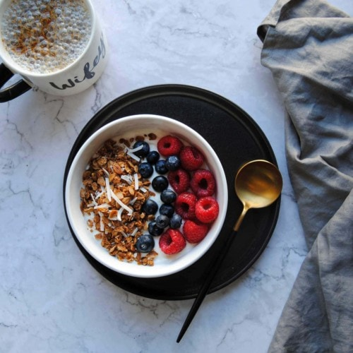 Simple Crunchy Coconut Granola - Featured Image