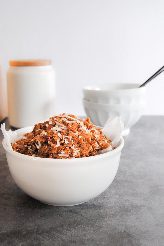 Simple Crunchy Coconut Granola - Portrait