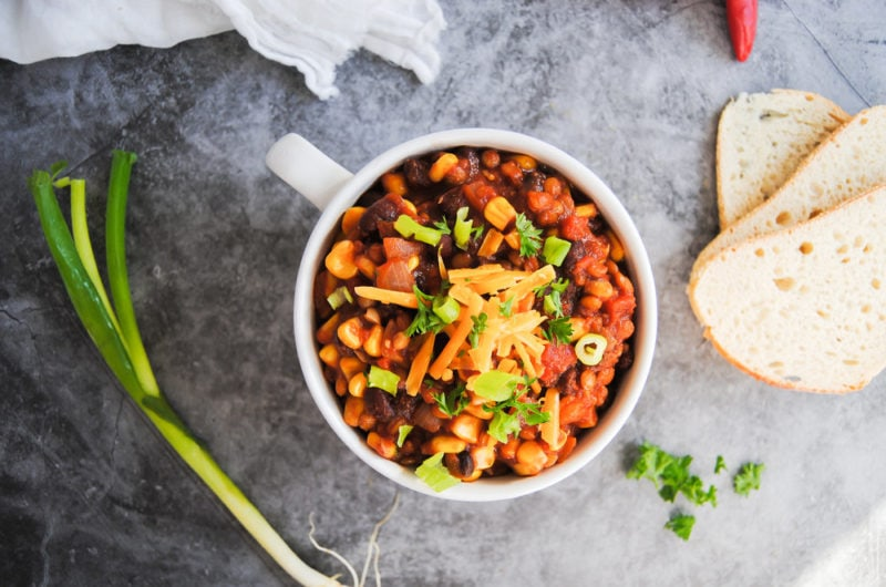 Wholesome Vegan Chili With Lentils
