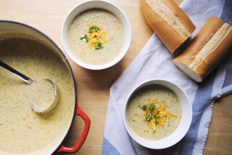 Best Vegetarian Broccoli Cheddar Soup - New Featured Image