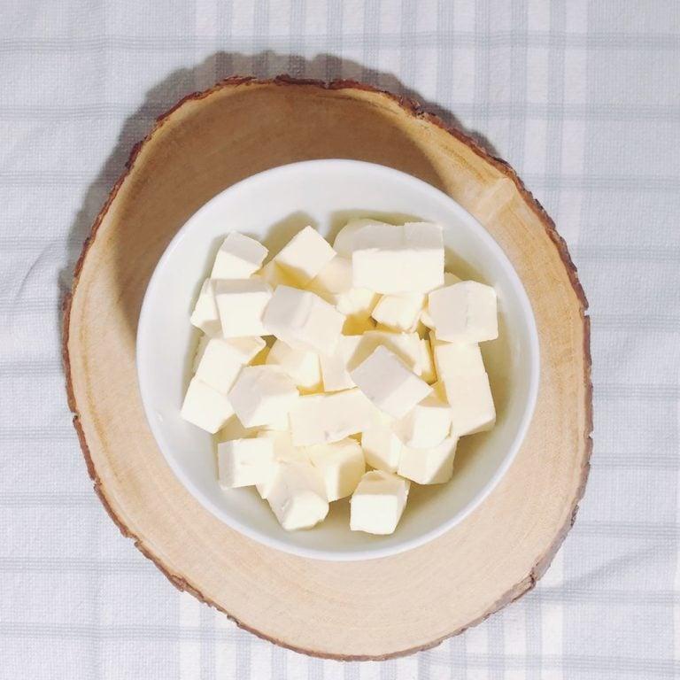 Bourbon Apple Pie - Cubed Butter