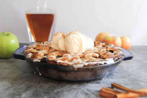 Drunken Apple Pie With Bourbon Drizzle - New Featured Image