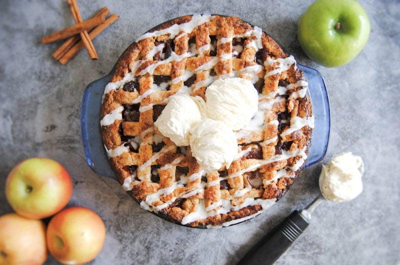 Drunken Apple Pie with Bourbon Glaze