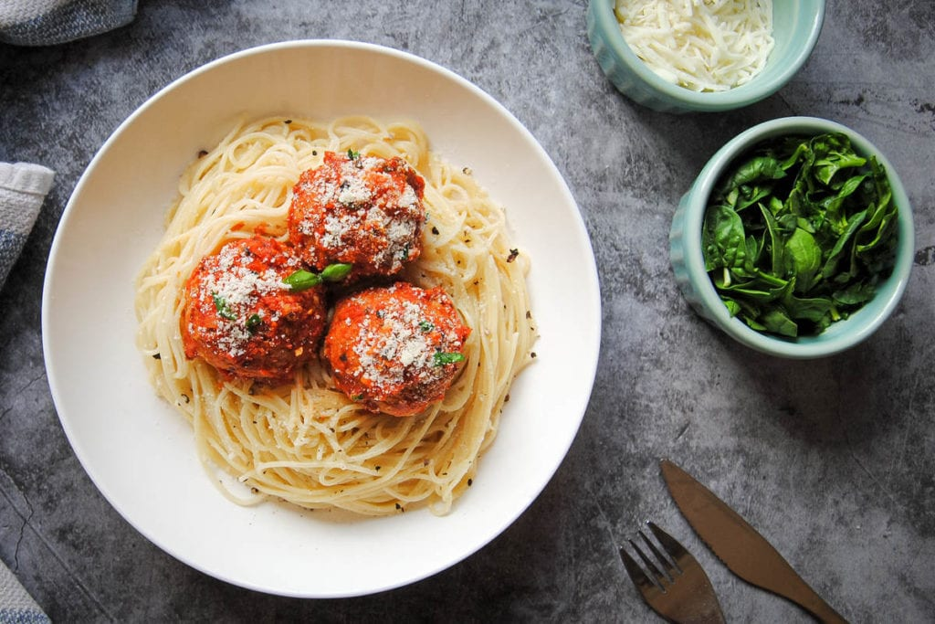 Meatless Chickpea Meatballs In Marinara - Offset Image