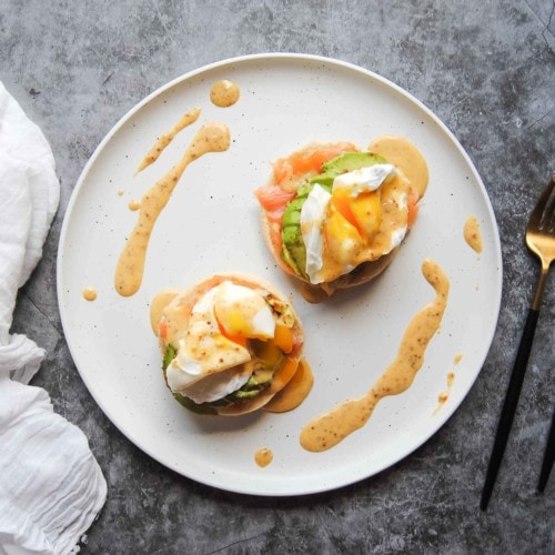 Smoked Salmon Eggs Benedict - Featured Image