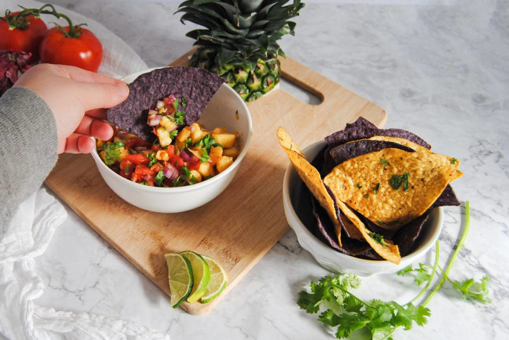 Sweet and Spicy Pineapple Salsa - Dipping Chip