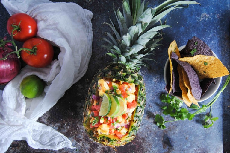 Sweet and Spicy Pineapple Salsa - Featured Image