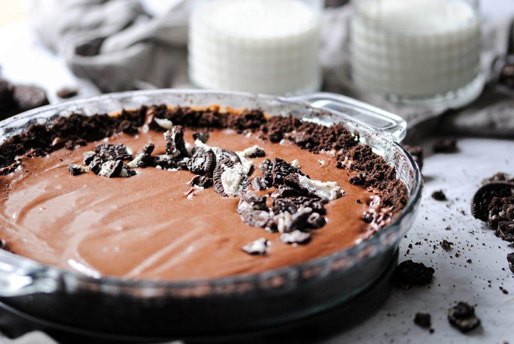 Landscape Close Up of Oreo Pie