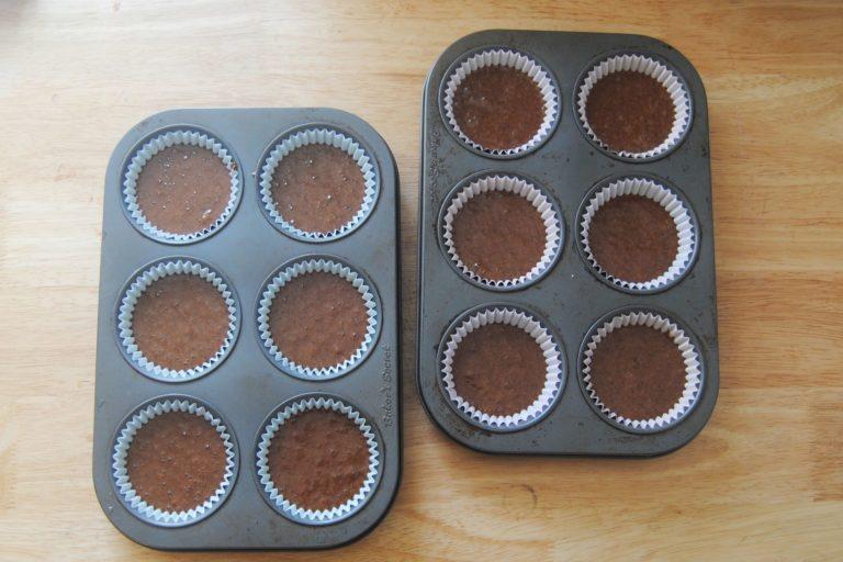 Chocolate on Chocolate Cupcakes - Filling Tin