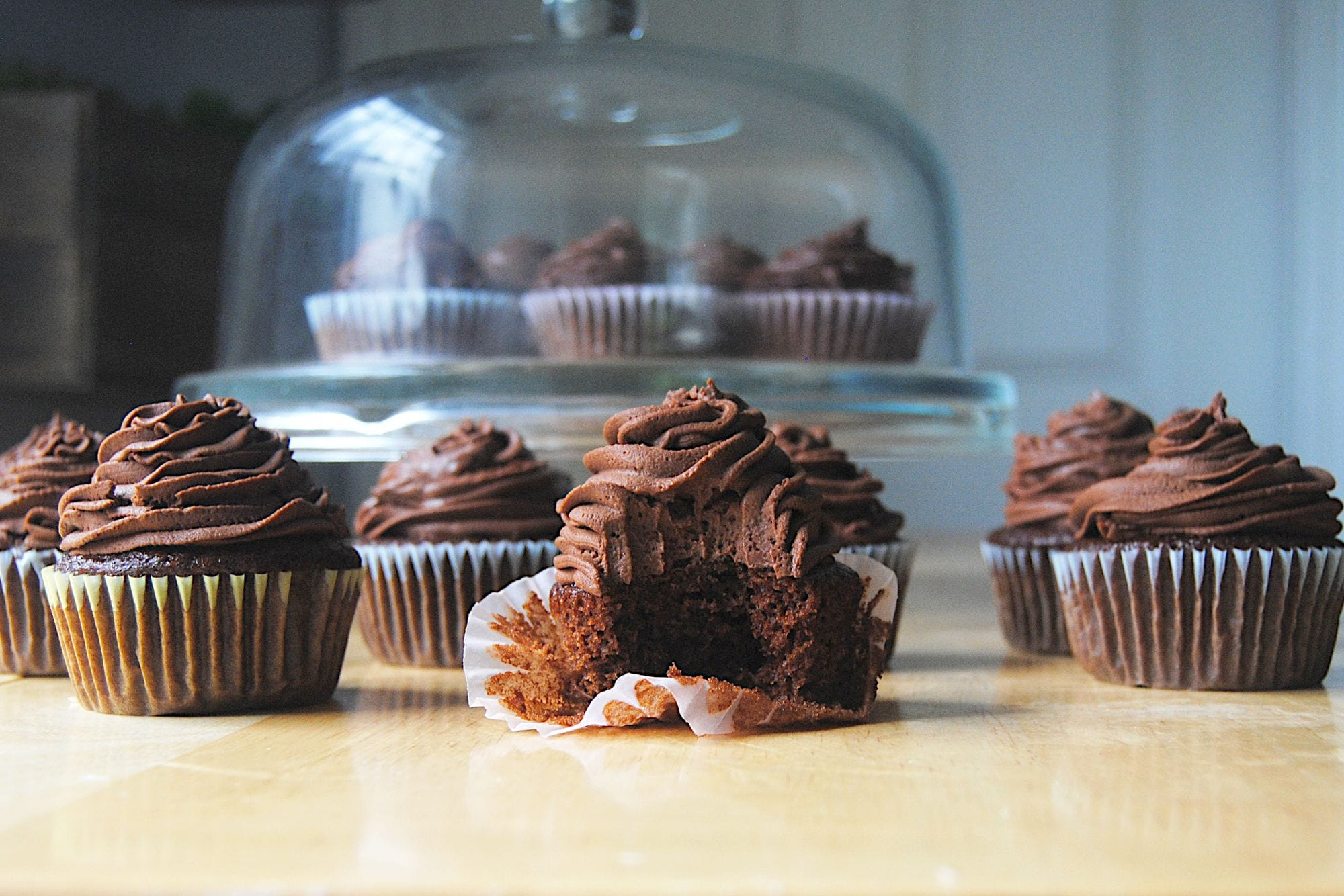 Chocolate on Chocolate Cupcakes - With Bite 2