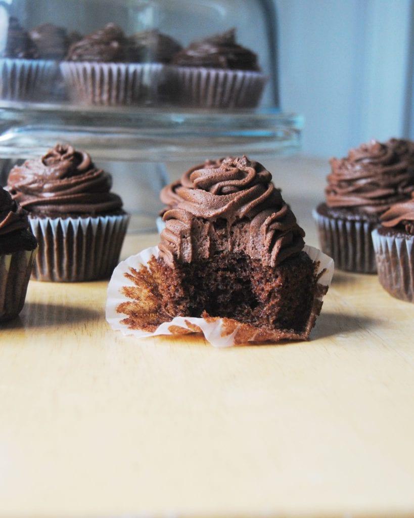 Chocolate on Chocolate Cupcakes - With Bite