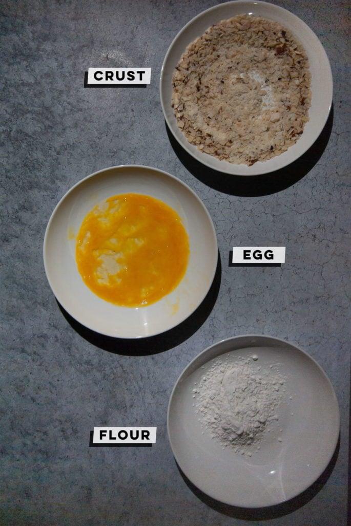 crust, eggs, flour