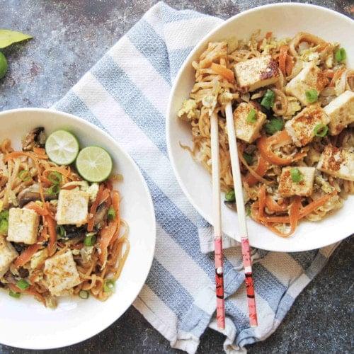 Thai Spicy Peanut Noodles - Featured Image