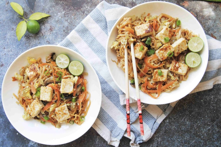 Thai Spicy Peanut Noodles - Featured Image