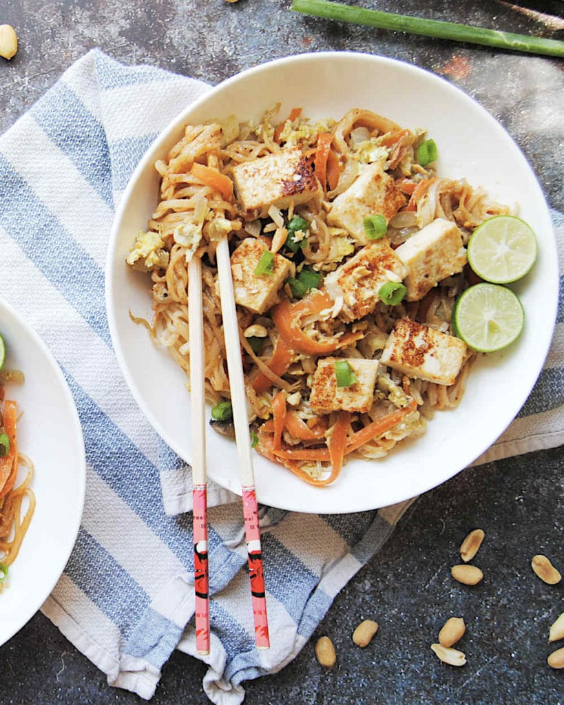 Thai Spicy Peanut Noodles - Portrait