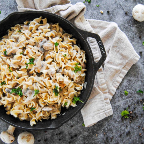 Cheat Mushroom Stroganoff - Featured Image