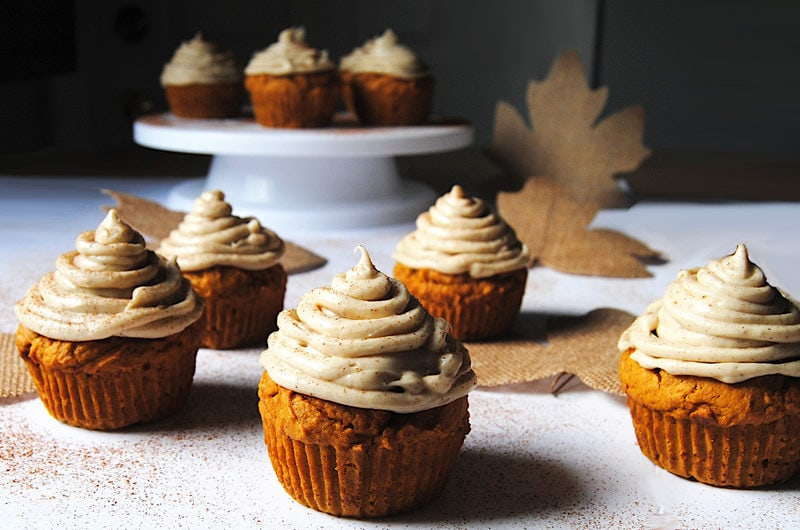 Pumpkin Muffins with Spiced Cream Cheese Frosting