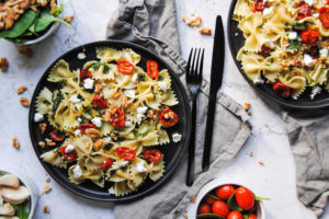 Sherry Bow Tie Pasta With Roasted Tomatoes - Featured Image