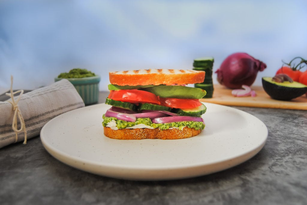 The Best Veggie Sandwich I've Ever Had -Stacked