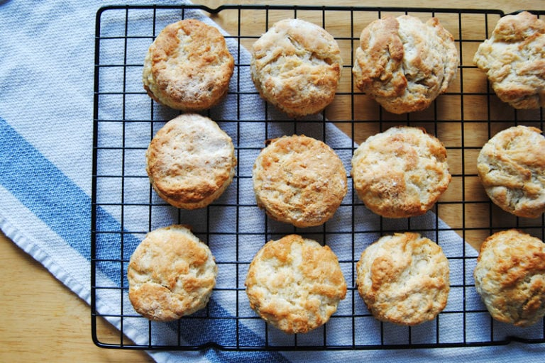 Vegetarian Biscuits and Gravy - Just Out of Oven
