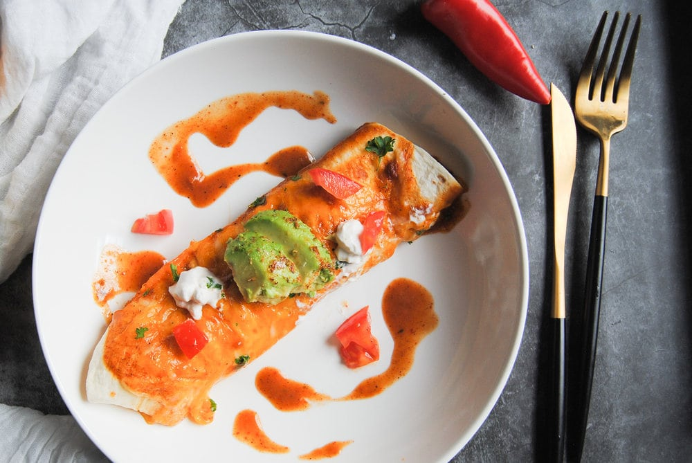 Versatile Enchiladas With Homemade Sauce - Close Up Plated