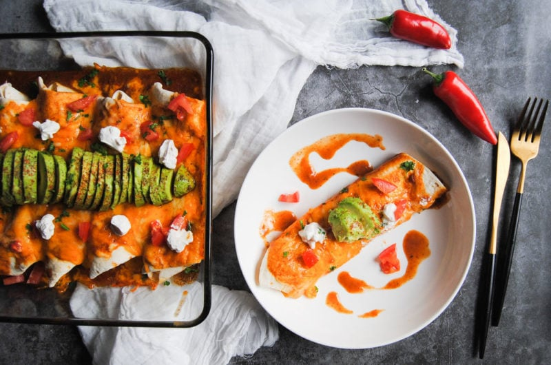 All-Diet Enchiladas with Homemade Sauce