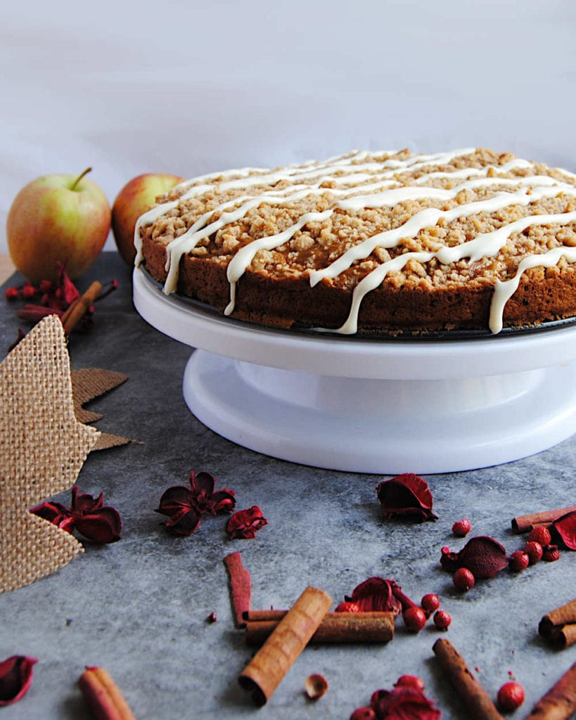 Fall Apple Cake With Streusel Topping - Recipe Card Image