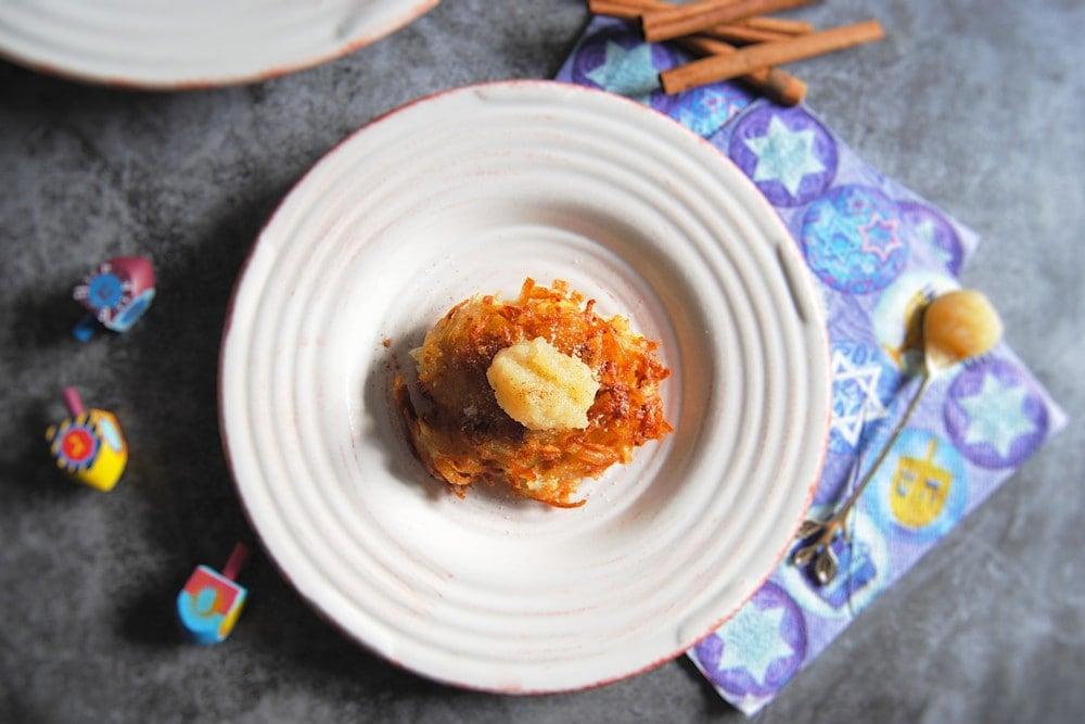 Traditional Potato Latkes - With Applesauce